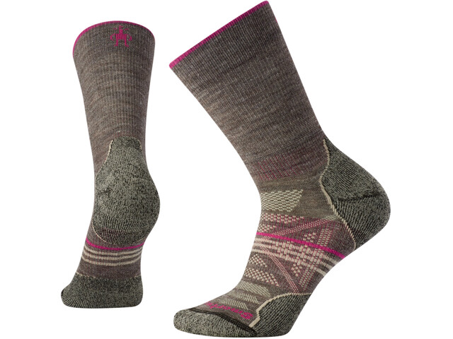 Smartwool PhD Outdoor Light 1/4 Crew Sokken Dames, taupe